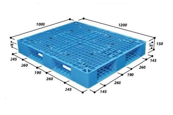 Jual Pallet Plastik Baru Dan Bekas Ukuran 1200 x 1000 x 150