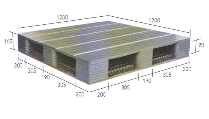 Jual Pallet Plastik Baru dan Bekas Ukuran 1200 mm x 1200 mm x 160 mm